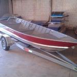 Barco plataformado alumínio